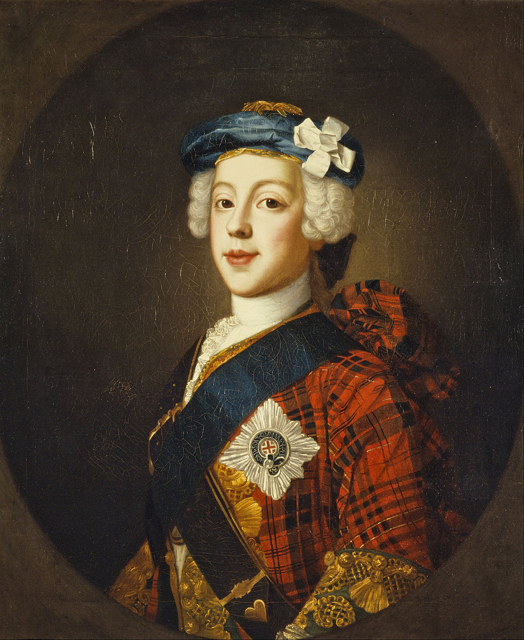 Painting of Bonnie Prince Charlie by William Mosman.