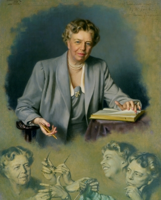 A White House painting of Eleanor Roosevelt.