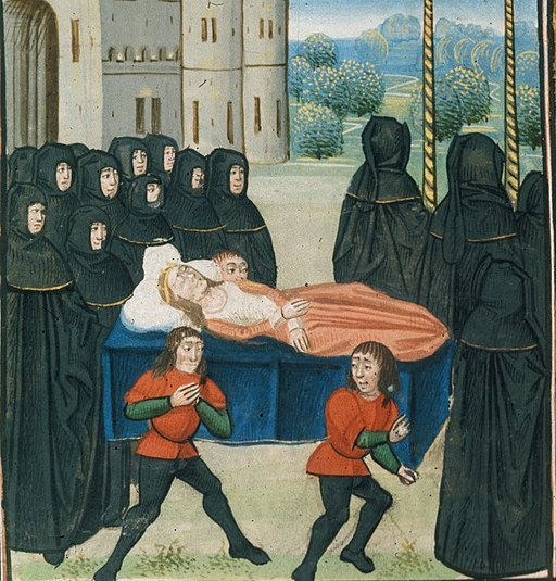Anne's funeral.