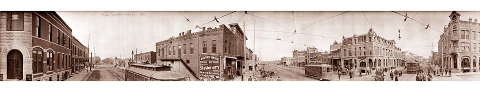 A panorama of Winfield, Kansas from around 1910.