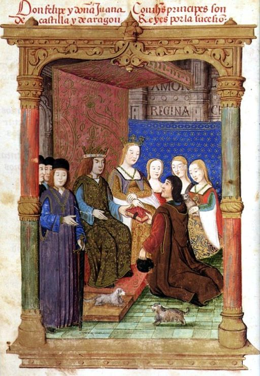 Joanna of Castille with her husband Philip.