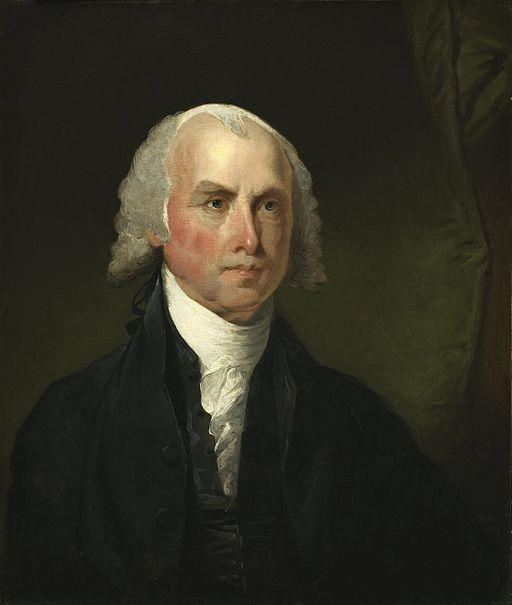 James Maddison. Painting by Gilbert Stuart.