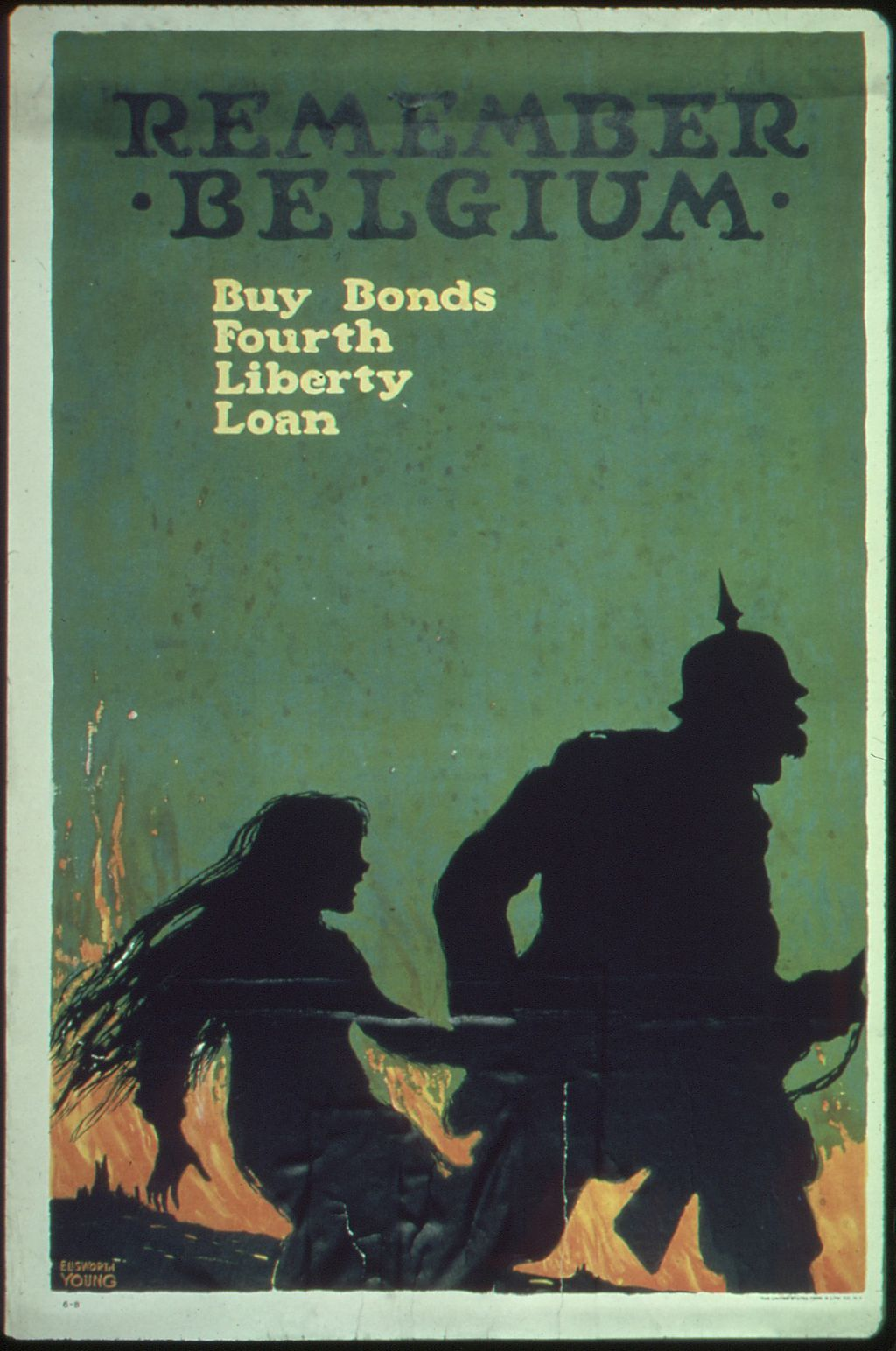 Another reference to Belgium to encourage people to buy war bonds.