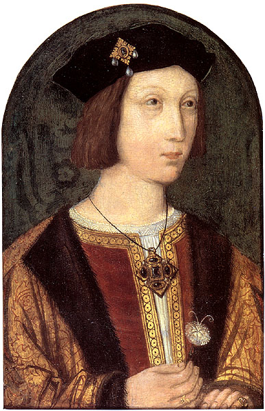 Arthur, Prince of Wales. Painting c. 1500.