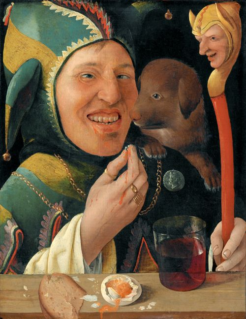 A 16th century painting of a jester Source:  here .