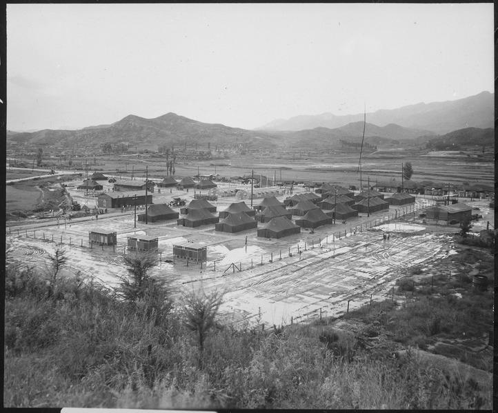 The innovative Mobile Army Surgical Hospital (or MASH) in Wonju, Korea. 1951.