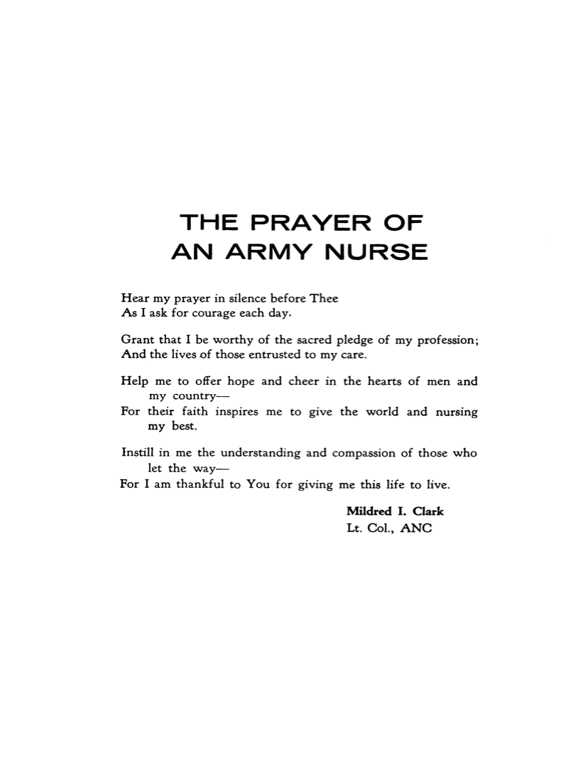 The Prayer of an Army Nurse.