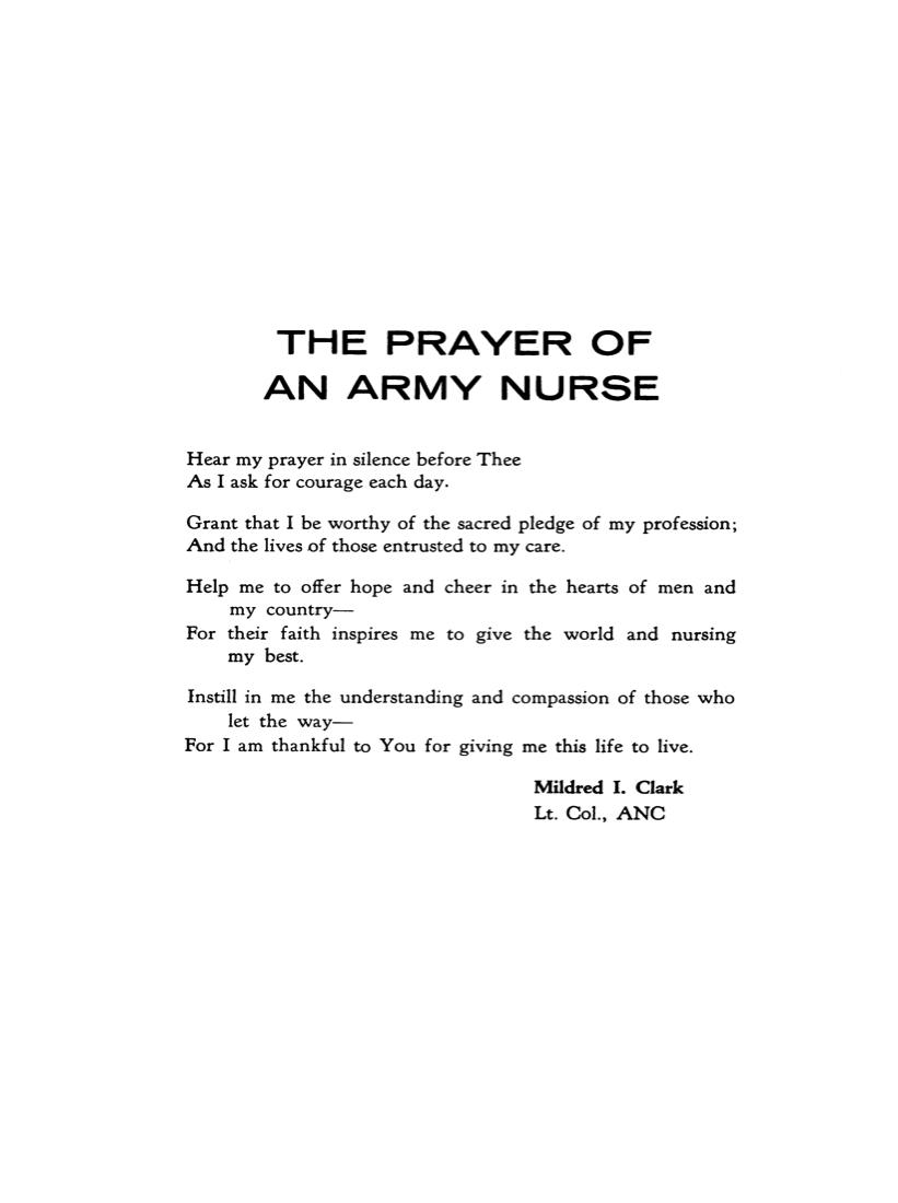 The Prayer of an Army Nurse.