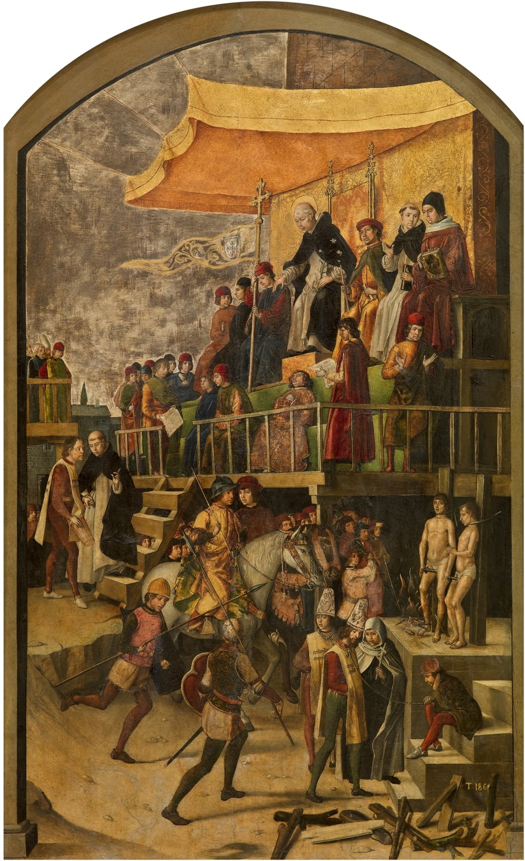 Saint Dominic presiding over an Auto-de-fe by Pedro Berruguete.