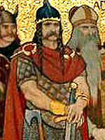 Kenneth MacAlpin, or King Kenneth I, often seen as being the first King of the Scots in Scottish folklore.