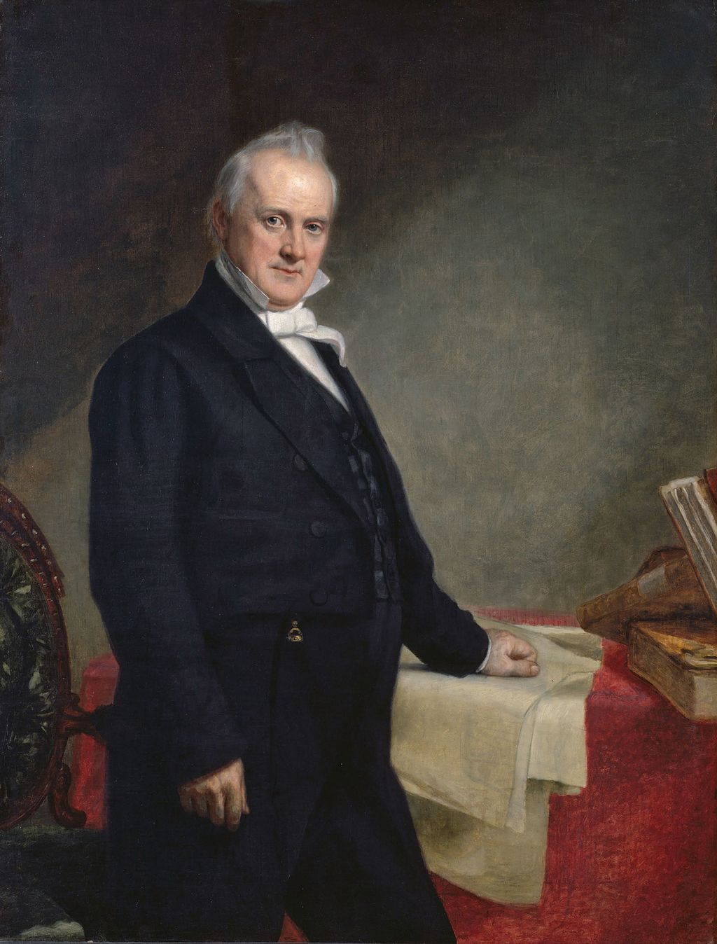 1859 portrait of President James Buchanan. Painting by George Peter Alexander Healy.