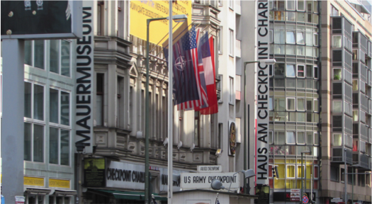 Image of Checkpoint Charlie in 2015, provided by and shown with the permission of Shannon Bent.