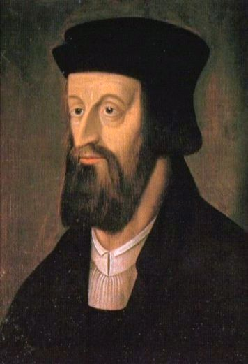 A sixteenth century painting of Jan Hus.