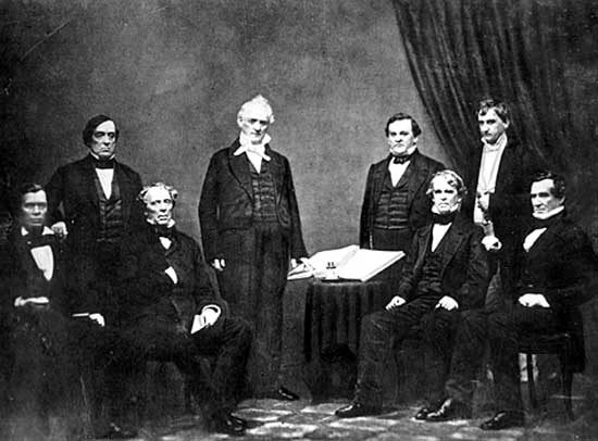 President James Buchanan's cabinet, circa 1859.