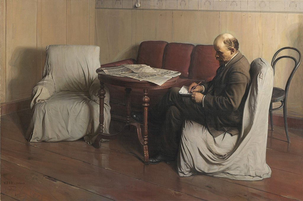 Lenin in Smolny in 1917 by Isaak Brodsky. An example of Socialist Realism.