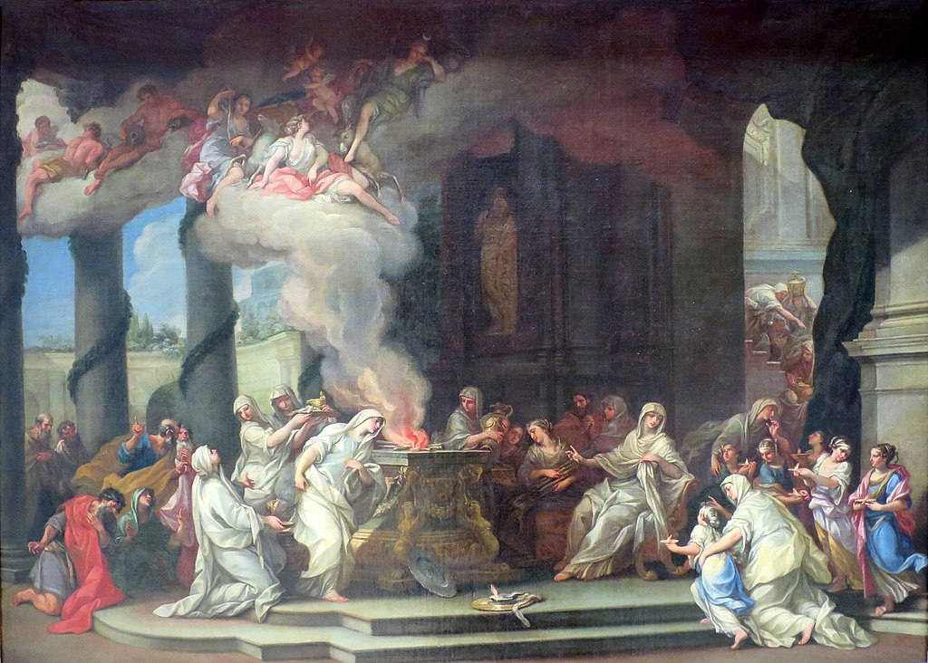 The Sacrifice of Vestal  by Alessandro Marchesini, 1710s.