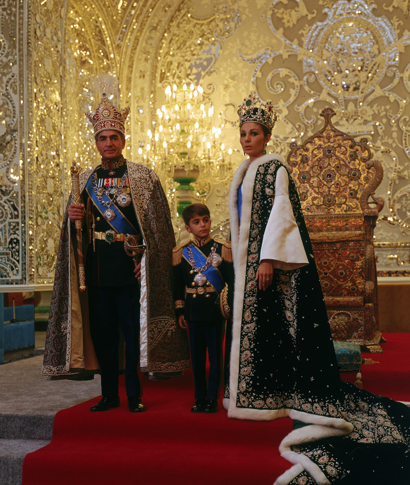 The Shah of Iran, Mohammad Reza, with his wife and son in 1967.