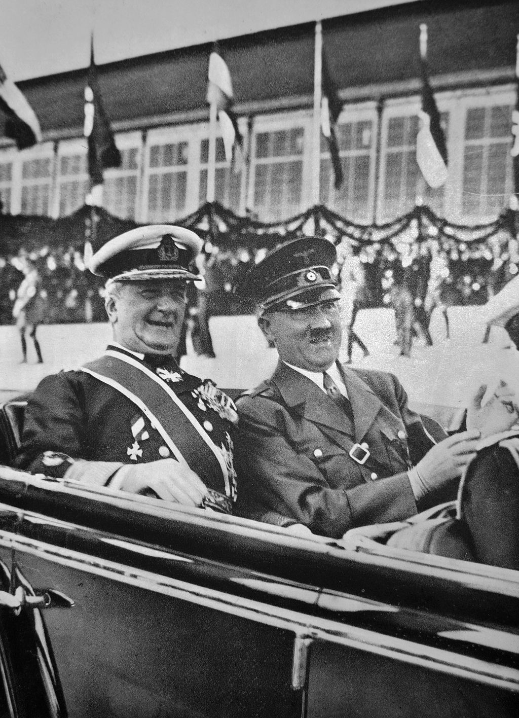 Miklos Horthy and Adolf Hitler in 1938.