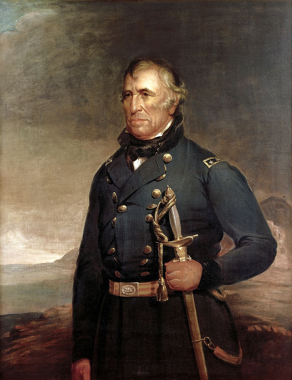 The official White House portrait of President Zachary Taylor. Taylor played a key role in the Compromise of 1850.