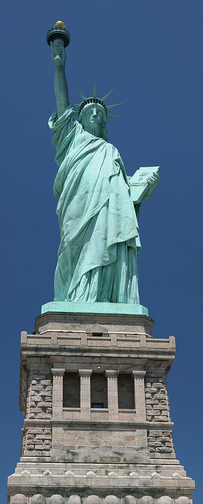 The Statue of Liberty. Source: Daniel Schwen, available  here .