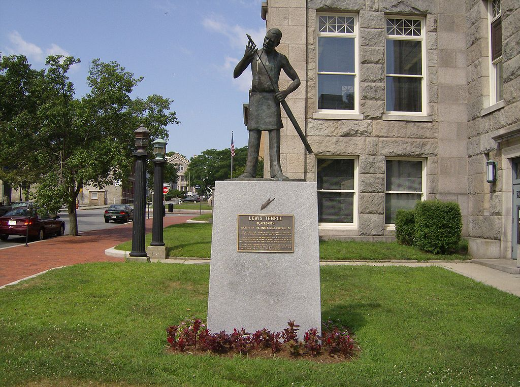 A statue of Lewis Temple in New Bedford, Massachusetts. Source: LGagnon, available  here .