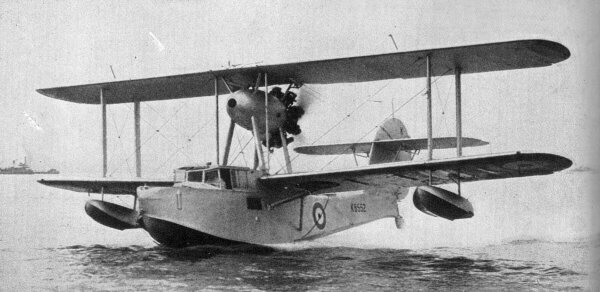 The airplane  Walrus , involved in the 1940 British Invasion of Iceland.