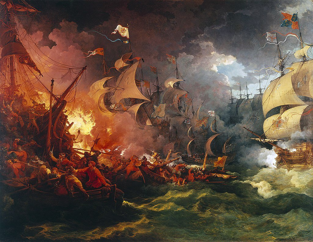 Defeat of the Spanish Armada  by Philip James de Loutherbourg.
