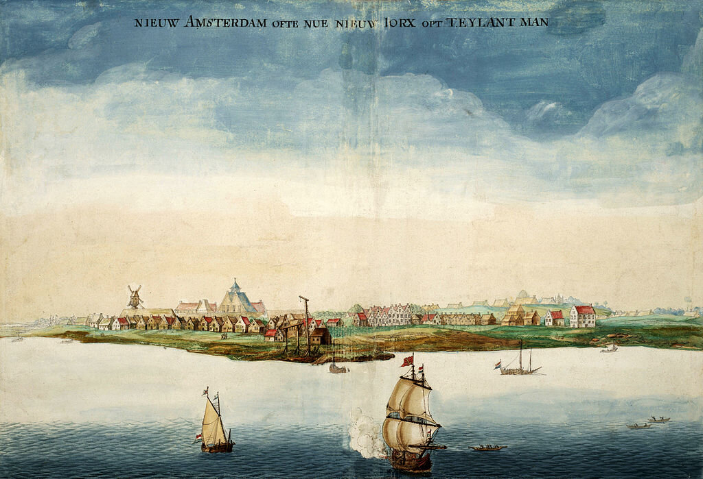 A painting of New Amsterdam (later New York) from 1664, the year the English took possession from the Dutch. By Johannes Vingboons.
