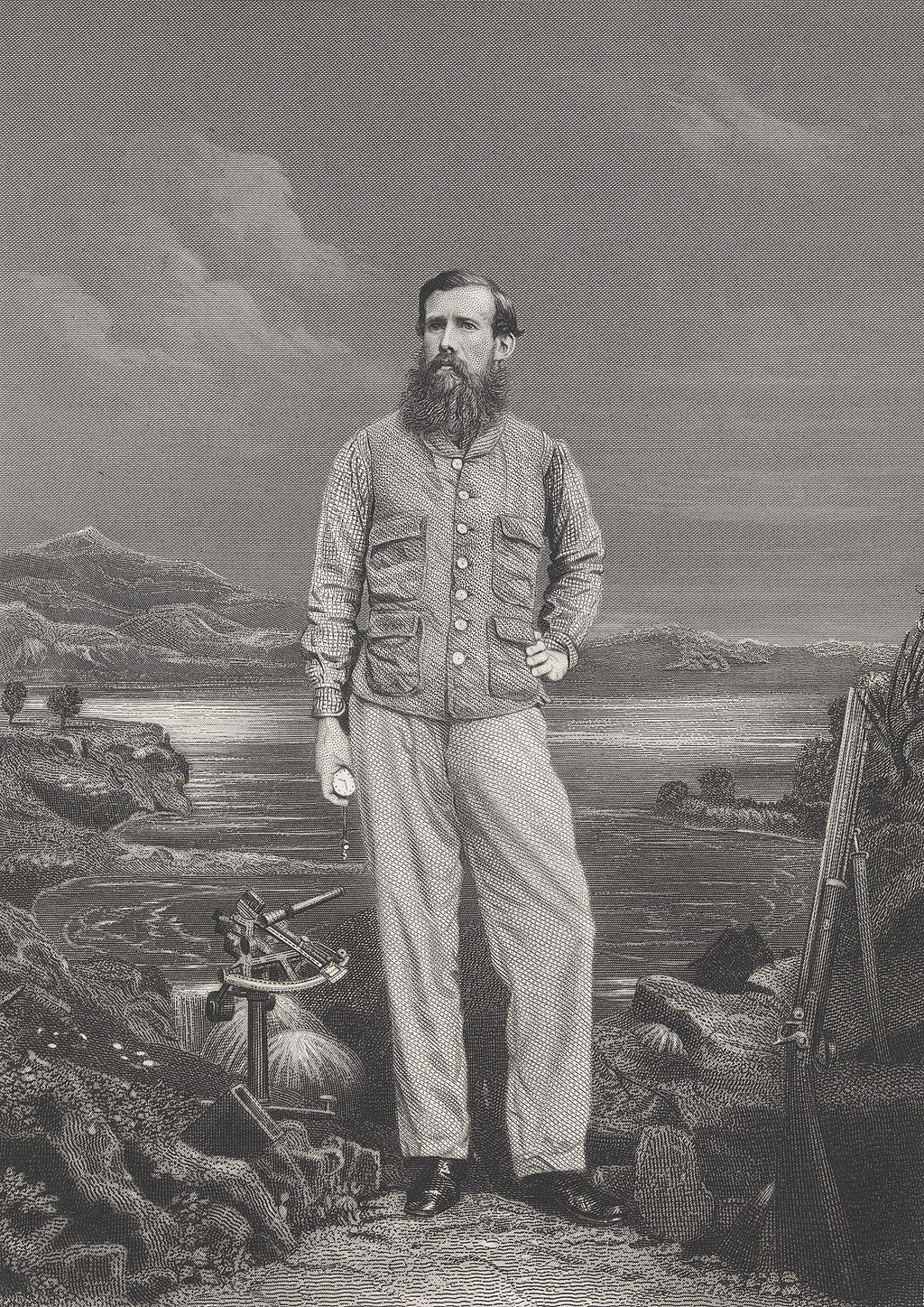 A portrait of John Hanning Speke, the man who played such a key role in the discovery of the source of the River Nile.