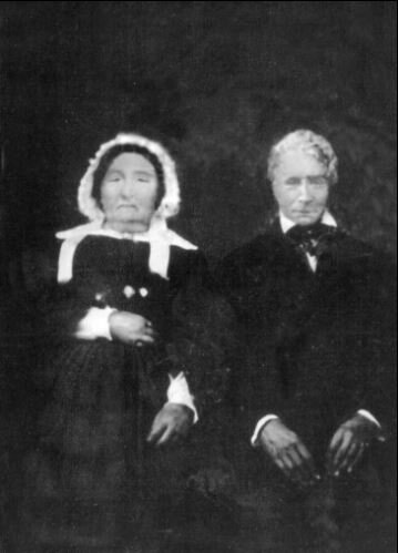 Jospeh Martin Plumb and his wife in the 19th century.