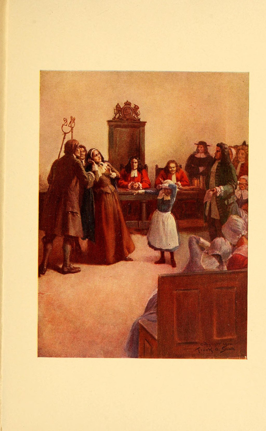 An image of the Salem witch trials by Frank O. Small.