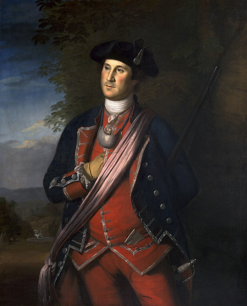 A depiction of George Washington during the French and Indian War. By Charles Willson Peale.