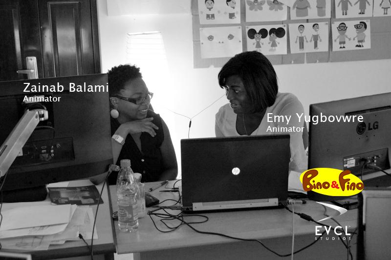Emy and Zainab Bino and Fino Animators