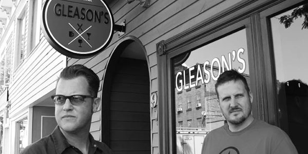 Tim Reinke & John Sharp in front of  Gleason's .