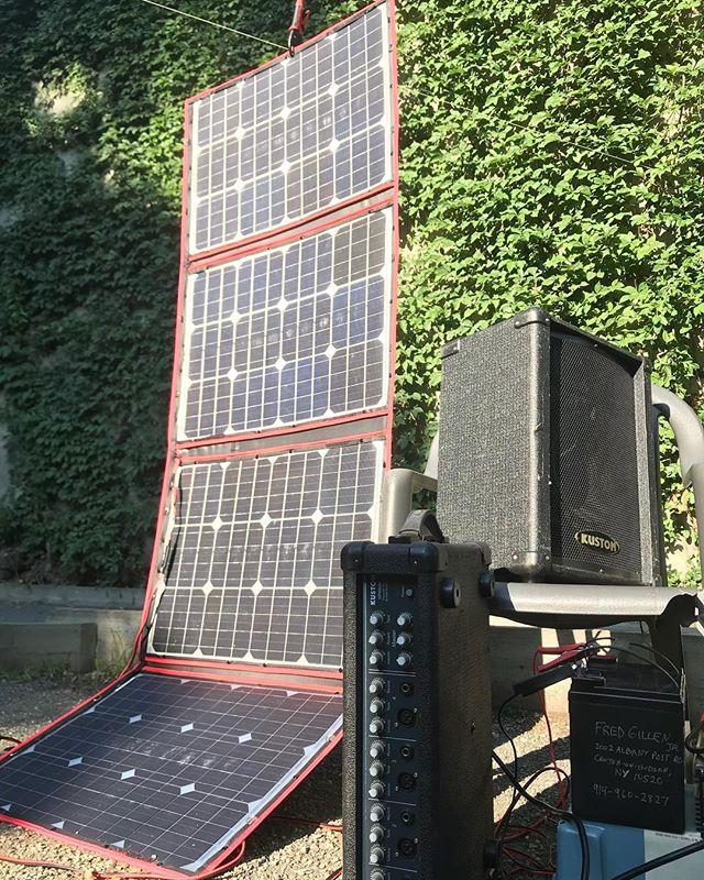 #fredgillenjr #solarpower show starts at 6pm in the beer garden. #peekskillrocks #livemusic
