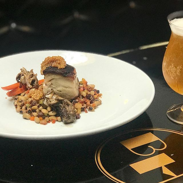 #porkbelly appetizer on the specials menu starting tonight - With #blackeyedpeas #carrots #henofthewoods #mushrooms & #pickled #mustardseed