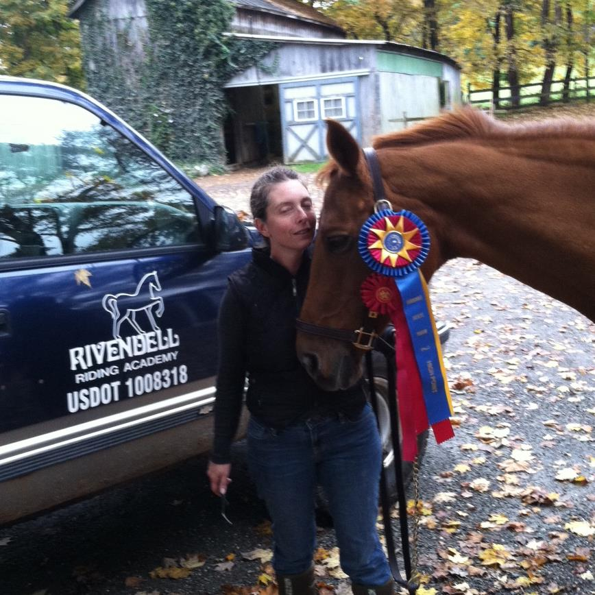 Kelly and Callie came in second and WON the Retired Thoroughbred Championship
