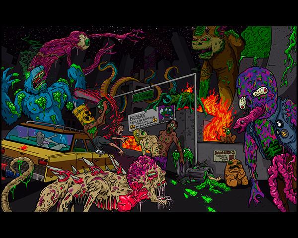 Wasteland Mural (copyright Matt Gondek 2013)