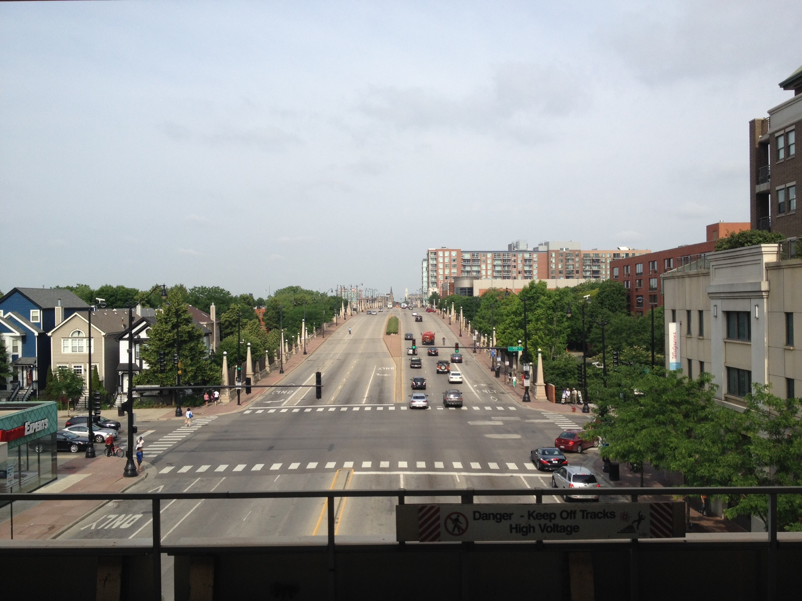View from Roosevelt stop on the Orange Line