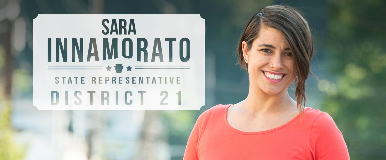 Logo for Sara Innamorato's bid for Pennsylvania State Rep in the 21st District.