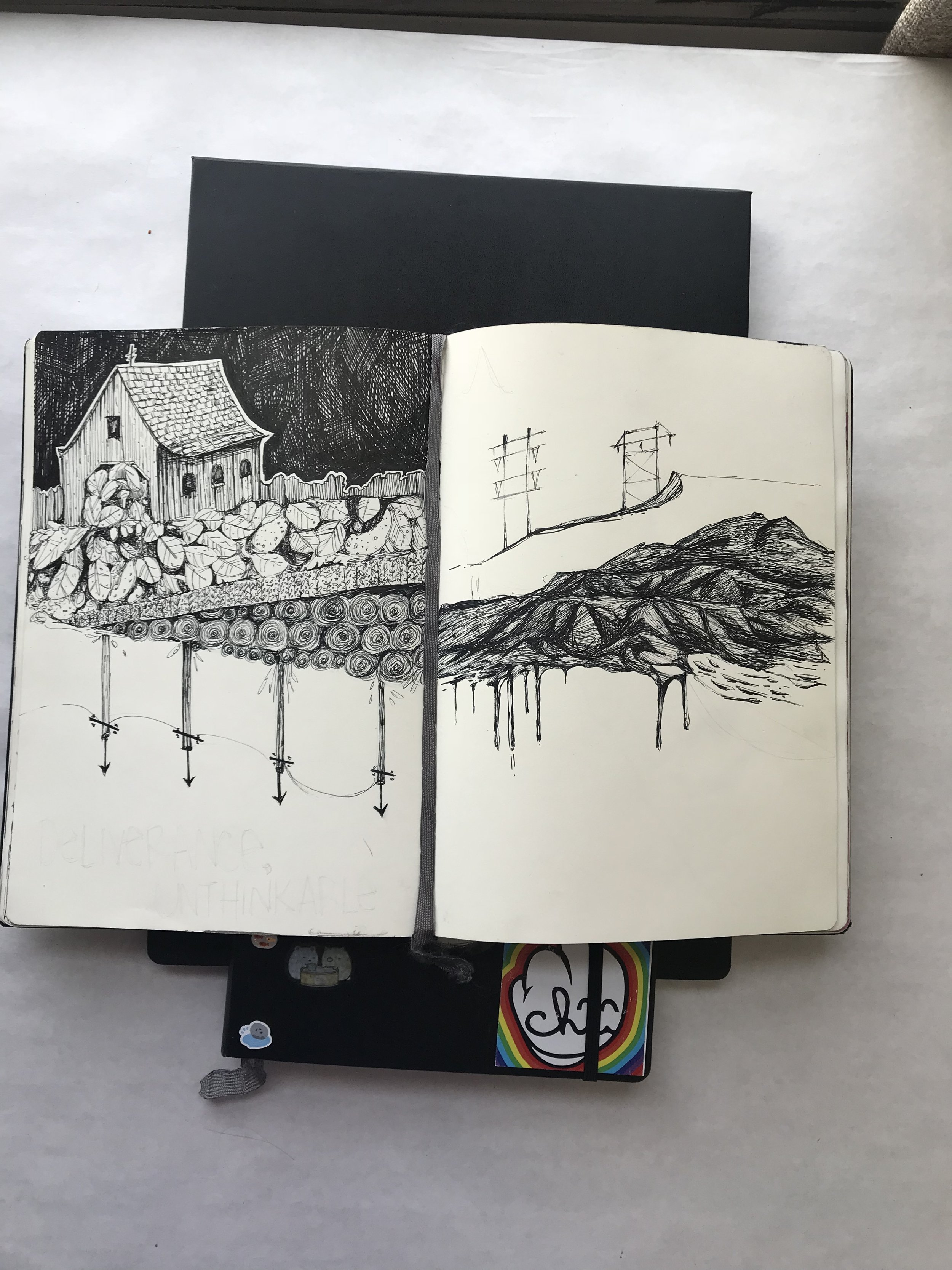 sketchbook opened