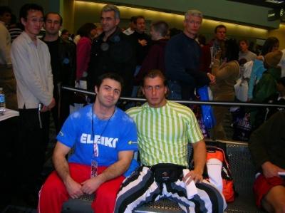 David with (a well dressed) Dmitry Klokov