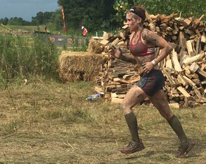 Meaghan being a bad ass during the Spartan Race