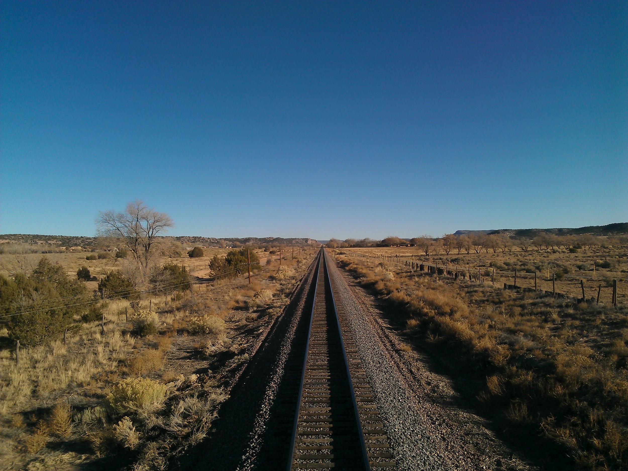 AMTRAK Railroad Line thru New Mexico Landscape