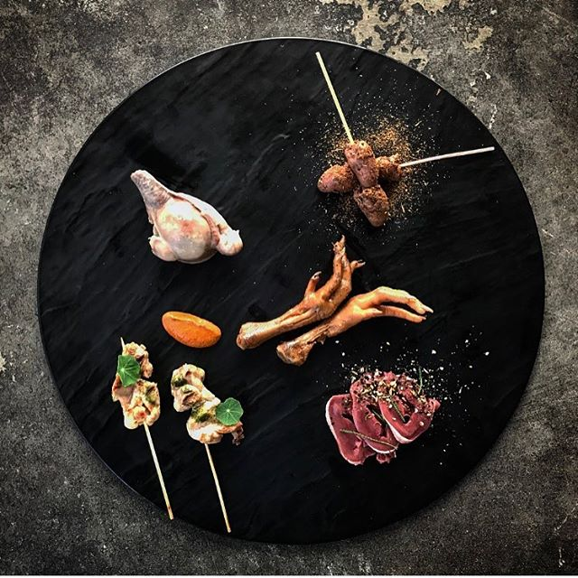 We served up a plate of tasty bites at yesterday's event for @mtvaustralia and @fearfactor. Here you have crocodile, possum, chicken feet, chicken heart and lamb testicles. It was great to see how adventurous and open people were to trying different foods. Would you be open to trying them?  #studioneon #studioneoncatering #catering #offal