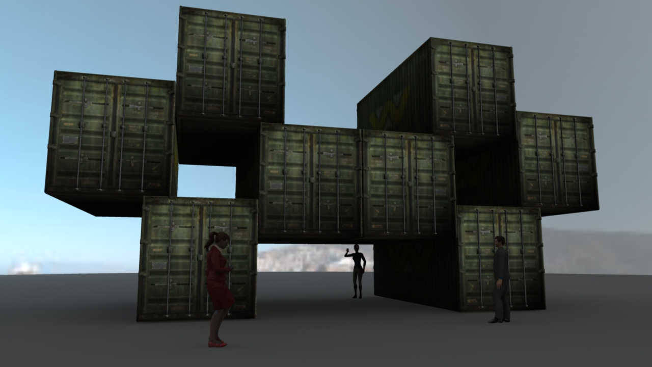 When I first started, I got the idea that the containers were going to be just structures to be viewed