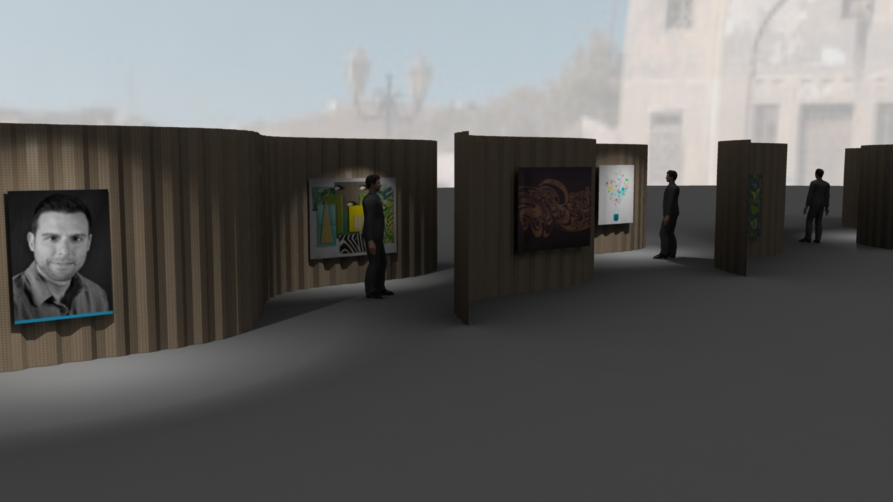 the walls can easily be removed and set up to display more exhibits throughout the museum's grounds