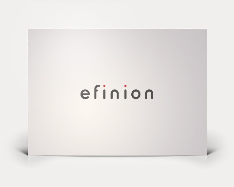 Efinion logo design