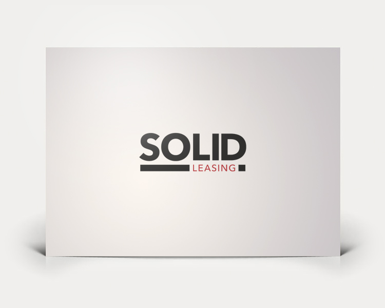 Solid Leasing logo design