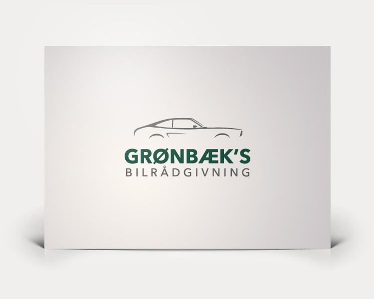 Grønbæk's Bilrådgivning logo design